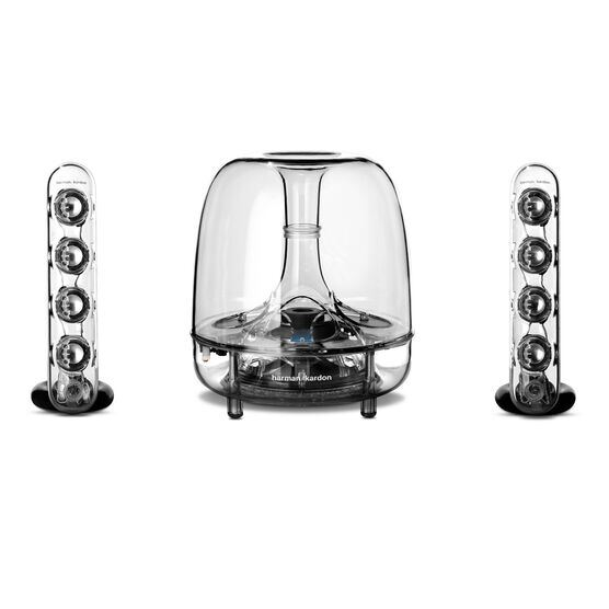 SoundSticks Wireless - Clear - Three-piece wireless speaker system with Bluetooth - Front