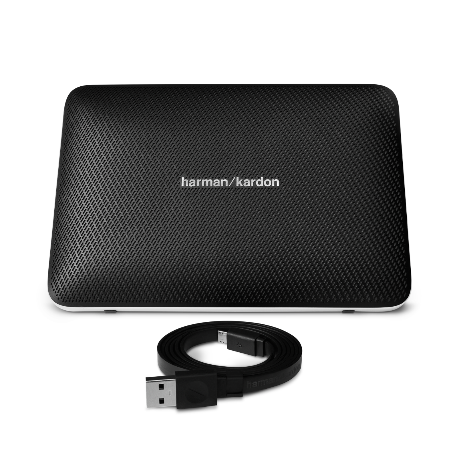 Esquire 2 - Black - Premium portable Bluetooth speaker with quad microphone conferencing system - Detailshot 2