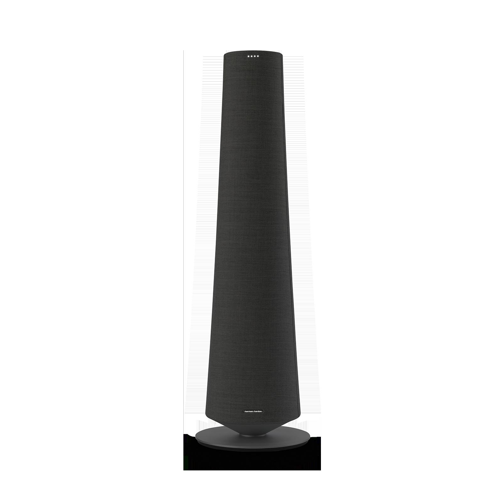 Harman Kardon Citation Tower - Black - Smart Premium Floorstanding Speaker that delivers an impactful performance - Front