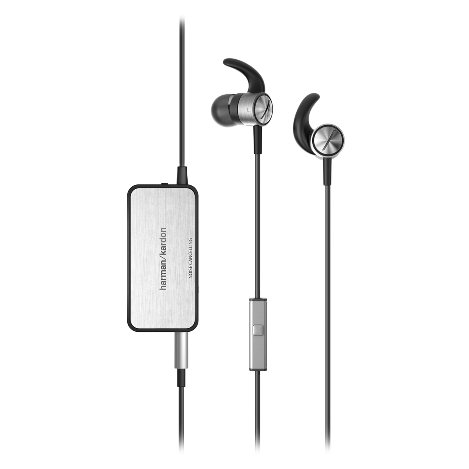 Soho II NC - Black - Active, noise-cancelling, in-ear headphones with microphone - Detailshot 1